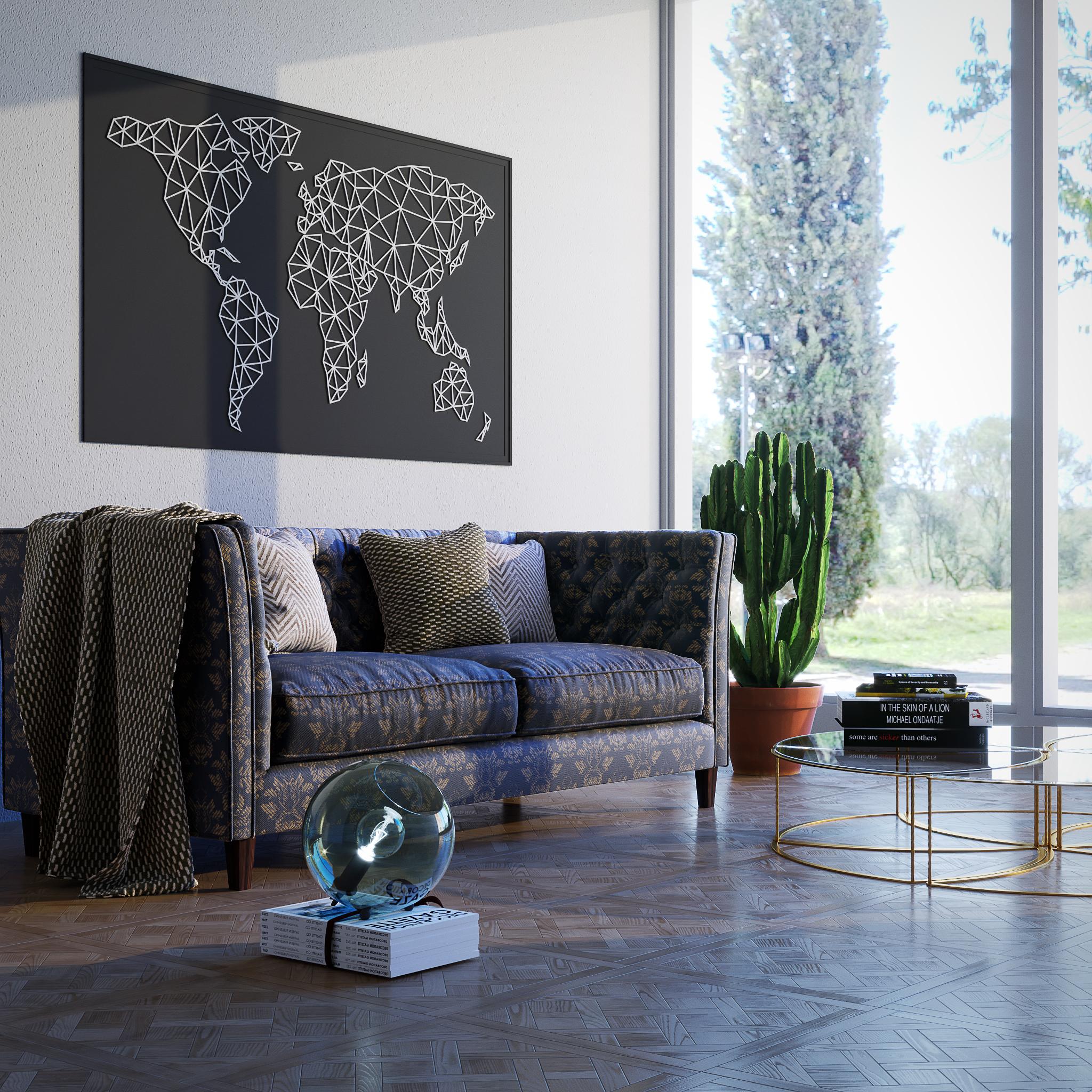 3D Lolli Design salone con finestra parete